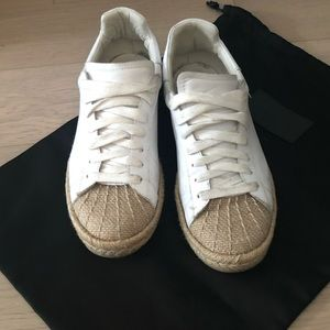 Alexander Wang she'll top white leather sneakers